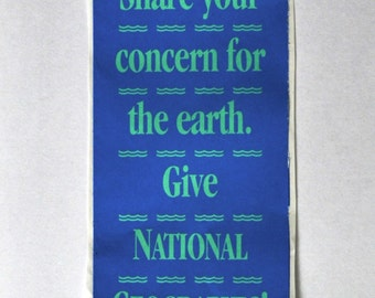 vintage national geographic donation sticker