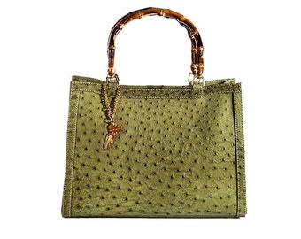 "Ostrich leather bag ""Certosa"""