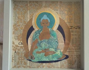 newsprint buddha
