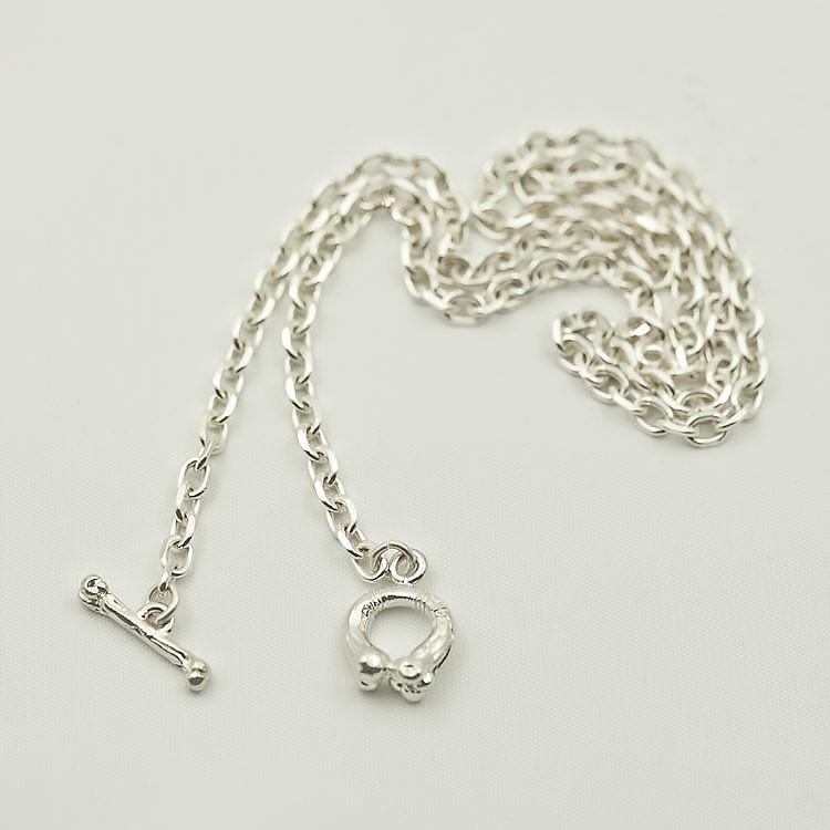 Silver Bone Necklace   Simple Silver Chain   Plain Silver Chain ...
