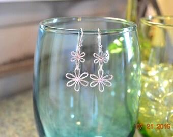 Sterling Silver Daisy Earrings