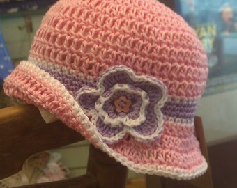 Toddler pink crochet hat