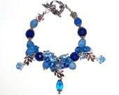Blue Bracelet Jewelry Gemstone Bracelet Beaded Bracelet Bridesmaid Bracelet Summer Bracelet Charm Bracelet Gift For Her