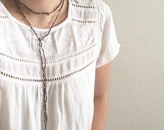 Choker Necklace- choker, double choker, lariat necklace, y necklace,  crochet choker, wrap necklace, long necklace, beaded choker, crochet