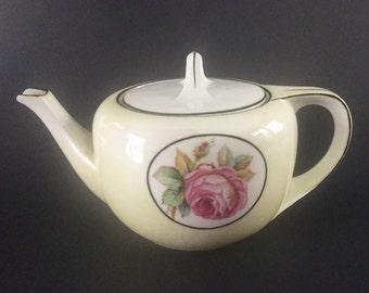Antique R S Germany Floral Teapot (Tillowitz)