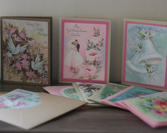 Vintage Wedding Cards Recycled and Scrap-booked