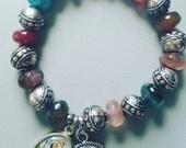 Multi Colored St. Christopher Journey Bracelet