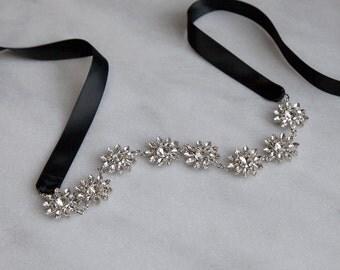 Crystal Daisy Elastic Headband