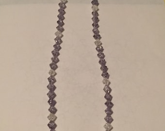 Handmade grey and white crystals