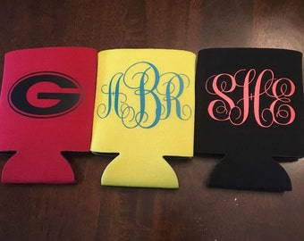 Monogram Koozies/Can Covers