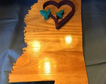Mississippi Cdls Love, CdLS love, CdLS awareness, CdLS wall art, CdLS wall decor, CdLS heart, Cornelia de Lange