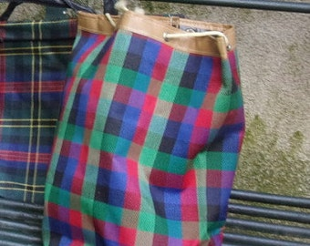 A small old bag or plaid vintage