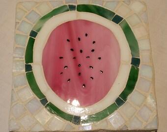 Watermelon Mosaic Trivet