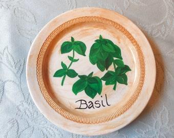 Herb/ Basil Decorative Plate