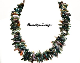 Fancy Jasper Statement Necklace