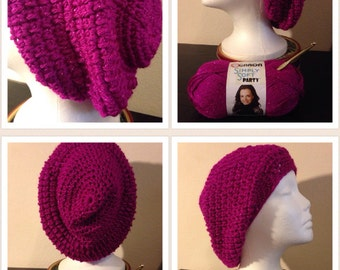 Simply Puffed Slouch Beanie