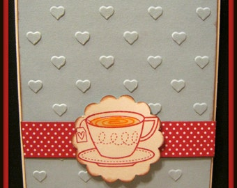 Hand made Tea cup Card ~Free Shipping~