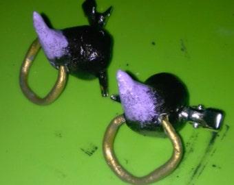 Rebel Devil horn hair clips *sparkly tips!*