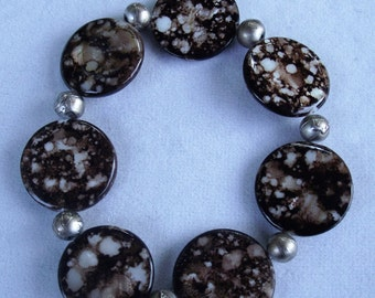 Brown Marbled Stretch Bracelet