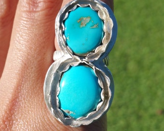 Sleeping beauty turquoise ring size 7 1/4