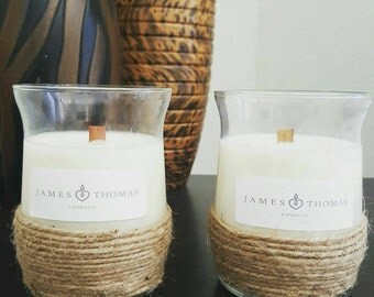 Soy wax wood wick candles