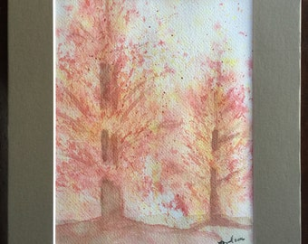Autumn Trees - Original watercolor painting