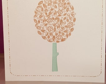 Sketched tree card