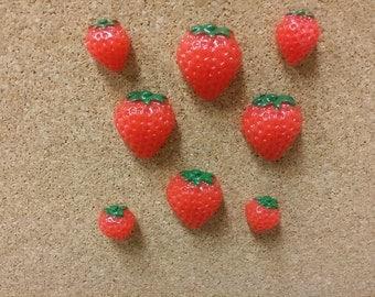 Strawberry time.Thumb tacks,Decorative tacks,fabric cork boards,pin tack, message board tacks, office/school supplies, push pins, tack pins