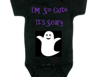 Halloween Baby Clothes - Halloween Infant Clothes - Ghost Baby Clothes - Halloween Baby - Cute Baby Clothes - I'm So Cute It's Scary Ghost