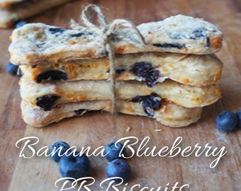 Banana Blueberry PB Biscuits