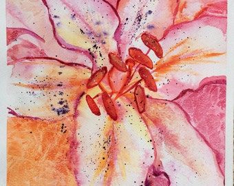 Lily in watercolours