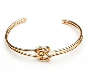 Bridesmaid Gift Bracelet, Tie The Knot Bangle, Love Knot Bracelet, Bridesmaid Proposal