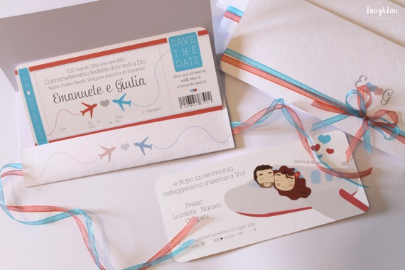 Matrimonio Tema Viaggio Frasi : Partecipazioni matrimonio tema viaggio con illustrazione