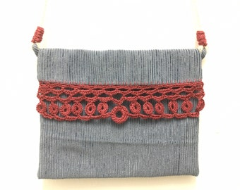 Crochet handmade crossbody bag