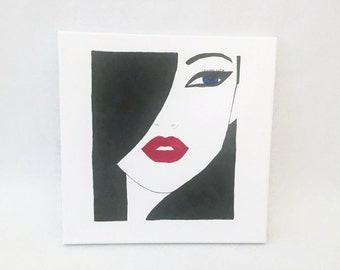 IT Girl Acrylic Painting on Canvas Wall Art Fashion