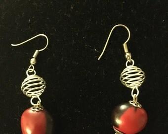 Huayruro Silver earrings