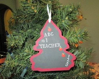 teachers ornament chalkboard in the shape of tree