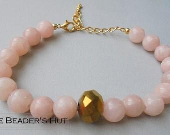 Romantic - beautiful bracelet in pink colour