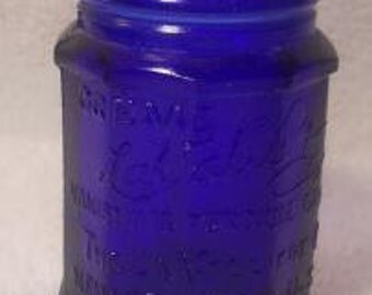 Vintage LaValliere Vanishing Cream Colbalt Blue Bottle