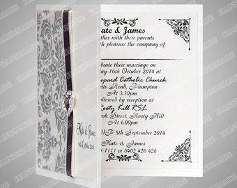 Wedding invitations custom card hand made embossed 49 wedding cards wedding invitation