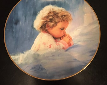 "The Hamilton Collection ""Twilight Prayer"" Plate Collection by Donald Zolan"