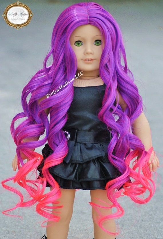 berry swirls ombre wig fits 18 inch dolls like american girl