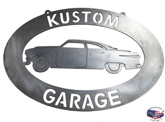 Kustom Car Garage - Plasma Cut Metal Shop Sign