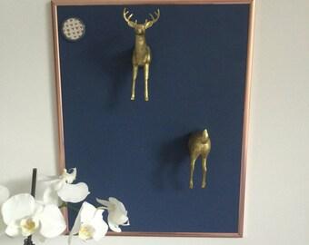 Gold Deer Front & Rear Animal Magnets