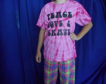 Pink Tie Dye Skater T-Shirt
