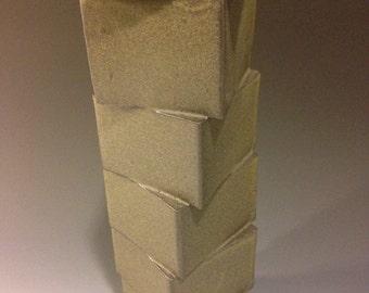Pottery Tall Black Blox 13x x 3x x 3x Clay