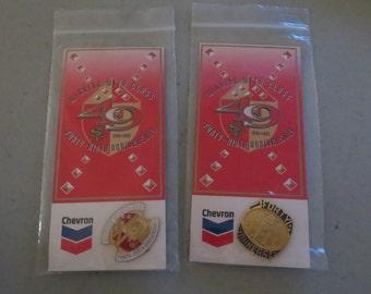 Vintage New In Package Set of San Francisco 49er Pins