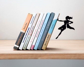 Supergal Bookend by Artori Design - Cool Gifts - Metal bookend - Designed Bookend- Bookends- Book accessories