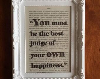 Emma Quote by Jane Austen Photo Frame