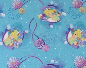 Disney Fabric- Tinkerbell Fabric- Petal Perfect Cameo Fabric From Springs Creative